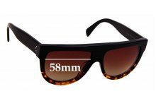 Sunglass Fix Sunglass Replacement Lenses for Celine CL 41026/S - 58mm Wide