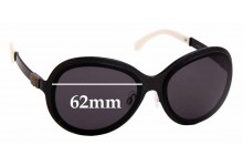 Sunglass Fix Sunglass Replacement Lenses for Chanel 4199 - 62mm Wide