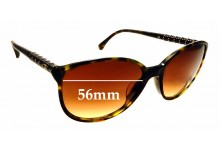 Sunglass Fix Sunglass Replacement Lenses for Chanel 5207 - 56mm Wide