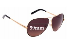 Sunglass Fix Sunglass Replacement Lenses for Chloe CE 107S - 59mm Wide