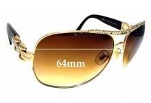 Sunglass Fix Sunglass Replacement Lenses for Chopard SCH 693S - 64mm Wide