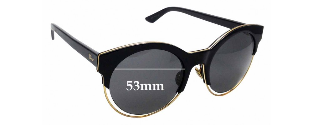 6fbd87ac7050a Christian Dior Dior Sideral 1 Replacement Lenses 61mm Wide by The Sunglass  Fix® Australia