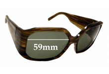Sunglass Fix Sunglass Replacement Lenses for Christian Roth CR14249 - 59mm Wide