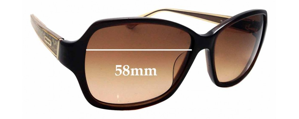 27d259bc92 Sunglass Fix Sunglass Replacement Lenses for COACH S2049 - 58mm wide ...