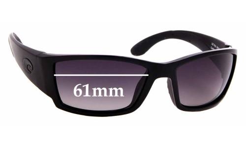 Sunglass Fix Sunglass Replacement Lenses for Costa Del Mar Corbina - 61mm Wide