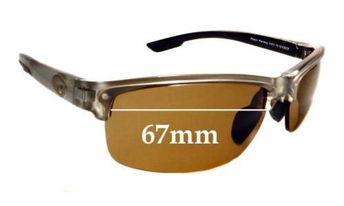 Sunglass Fix Sunglass Replacement Lenses for Costa Del Mar Indio - 67mm Wide