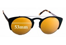 Sunglass Fix Sunglass Replacement Lenses for Derek Cardigan Firefly - 53mm Wide