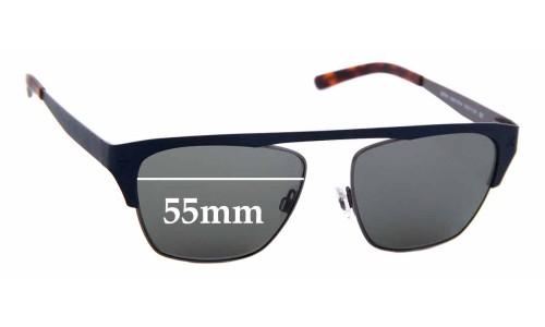 Sunglass Fix Sunglass Replacement Lenses for Derek Cardigan Spitfire - 55mm Wide