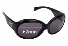 Sunglass Fix Sunglass Replacement Lenses for Dolce & Gabbana DG8045B - 62mm Wide