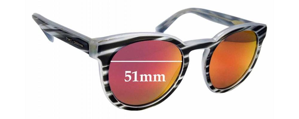 Sunglass Fix Sunglass Replacement Lenses for Dolce & Gabbana DG4285 - 51mm Wide