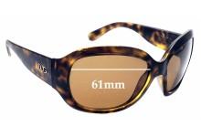 Sunglass Fix Sunglass Replacement Lenses for Dolce & Gabbana DG8066 - 61mm Wide