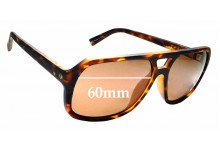 Sunglass Fix Sunglass Replacement Lenses for Electric Dude - 60mm Wide