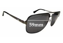 Sunglass Fix Sunglass Replacement Lenses for Emporio Armani EA 2007 - 59mm Wide