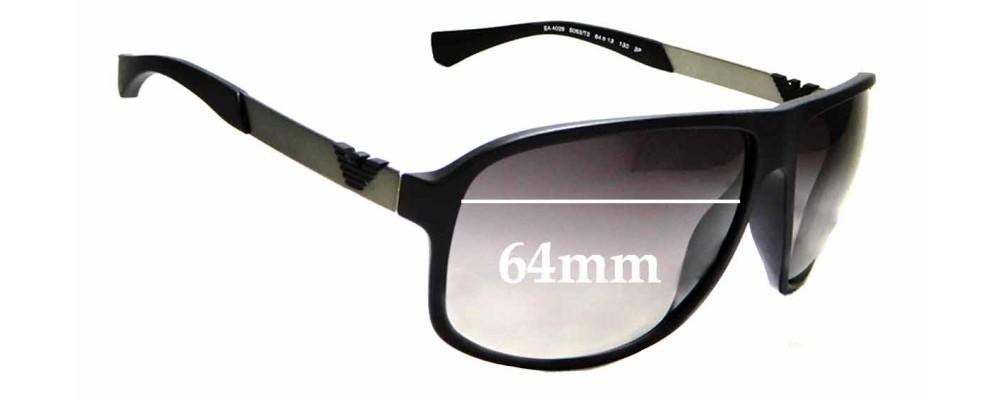 fc10fd40196 Sunglass Fix Sunglass Replacement Lenses for Emporio Armani EA 4029 - 64mm  Wide