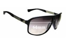 Sunglass Fix Sunglass Replacement Lenses for Emporio Armani EA 4029 - 64mm Wide