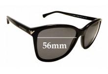 Sunglass Fix Sunglass Replacement Lenses for Emporio Armani EA4060 - 56mm Wide