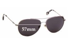 Sunglass Fix Sunglass Replacement Lenses for Emporio Armani EA 2010 - 57mm Wide