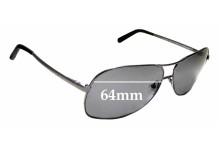 Sunglass Fix Sunglass Replacement Lenses for Ermenegildo Zegna SZ 3126V - 64mm Wide