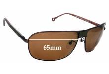 Sunglass Fix Sunglass Replacement Lenses for Ermenegildo Zegna SZ 3199 - 65mm Wide