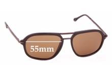 Sunglass Fix Sunglass Replacement Lenses for Ermenegildo Zegna SZ 3197 - 55mm Wide
