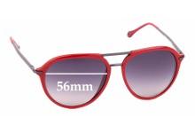 Sunglass Fix Sunglass Replacement Lenses for Ermenegildo Zegna SZ 3198 - 56mm Wide
