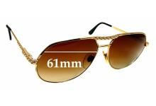 Sunglass Fix Sunglass Replacement Lenses for Ettore Bugatti EB502/S - 61mm Wide
