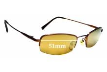 Sunglass Fix Sunglass Replacement Lenses for Fedo FD110 - 51mm Wide