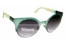 Sunglass Fix Sunglass Replacement Lenses for Fendi FF 0080/S - 50mm Wide