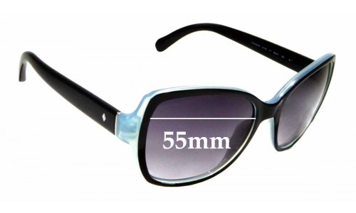 Sunglass Fix Sunglass Replacement Lenses for Fossil FOS3004S - 55mm Wide
