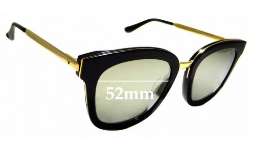 Sunglass Fix Sunglass Replacement Lenses for Gentle Monster Absente One - 52mm Wide
