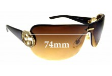 Sunglass Fix Sunglass Replacement Lenses for Gucci GG 4224/S - 74mm Wide