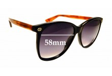 Sunglass Fix Sunglass Replacement Lenses for Gucci GG 0024/S - 58mm Wide