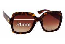 Sunglass Fix Sunglass Replacement Lenses for Gucci GG0036/S -  54mm Wide