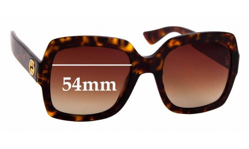 Sunglass Fix Sunglass Replacement Lenses for Gucci GG0036S -  54mm wide