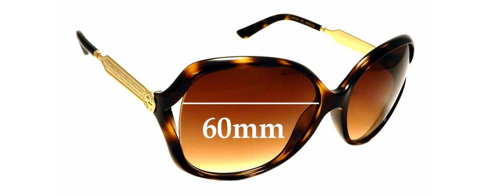 Sunglass Fix Replacement Lenses for Gucci GG0076/S - 60mm Wide