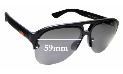 Sunglass Fix Sunglass Replacement Lenses for Gucci GG0170S - 59mm wide