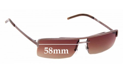 Sunglass Fix Sunglass Replacement Lenses for Gucci 1679/S - 58mm wide