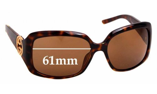 Sunglass Fix Sunglass Replacement Lenses for Gucci 3164/S - 61mm wide