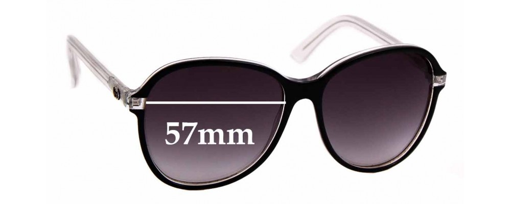 Sunglass Fix Replacement Lenses for Gucci GG3193/S - 57mm Wide