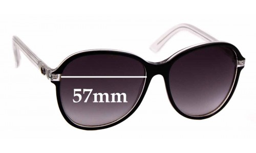 Sunglass Fix Sunglass Replacement Lenses for Gucci 3193/S - 57mm wide