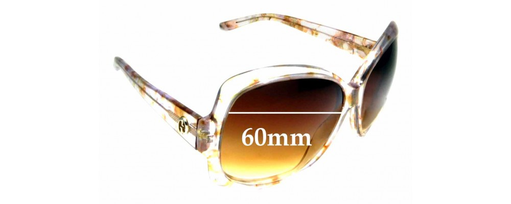 Sunglass Fix Replacement Lenses for Gucci GG3581/S - 60mm Wide