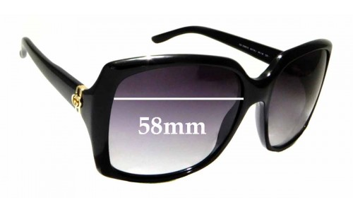 Sunglass Fix Sunglass Replacement Lenses for Gucci GG 3589/S - 58mm wide