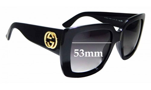 Sunglass Fix Sunglass Replacement Lenses for Gucci GG 3814/S - 53mm Wide