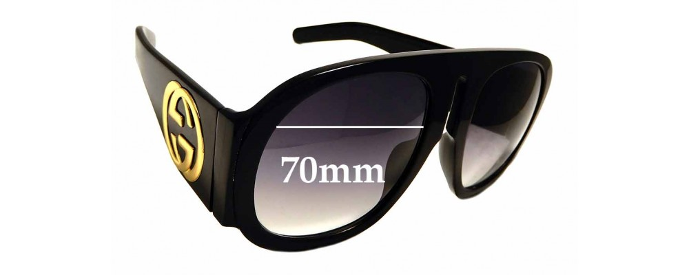 Sunglass Fix Sunglass Replacement Lenses for Gucci GG 0152/S - 70mm Wide