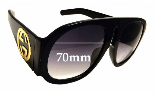 Sunglass Fix Sunglass Replacement Lenses for Gucci GG 0152 S - 70mm wide