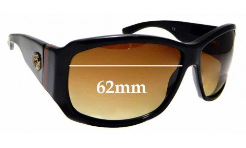 Sunglass Fix Sunglass Replacement Lenses for Gucci GG2592/S 62mm Wide