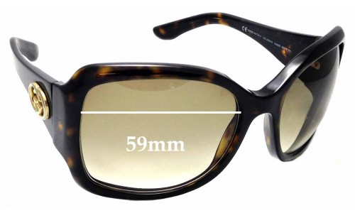 Sunglass Fix Sunglass Replacement Lenses for GUCCI GG2965/S - 59mm wide