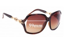Sunglass Fix Sunglass Replacement Lenses for Gucci GG3584/N/S - 59mm Wide