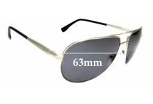 Sunglass Fix Sunglass Replacement Lenses for Guess GU6829 - 63mm Wide