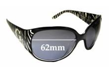 Sunglass Fix Sunglass Replacement Lenses for Guess GU7250 - 62mm Wide